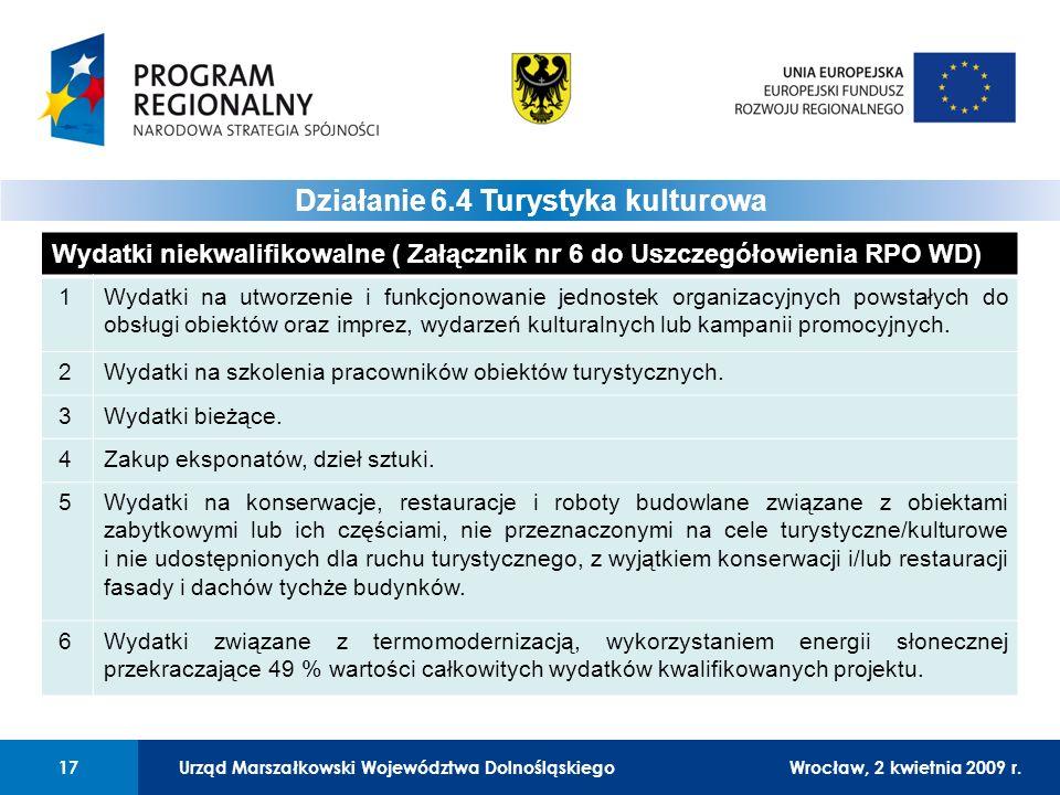 Urząd Marszałkowski Województwa DolnośląskiegoWrocław, 12 czerwca 2008 r.17 01 Urząd Marszałkowski Województwa Dolnośląskiego17Wrocław, 2 kwietnia 2009 r.