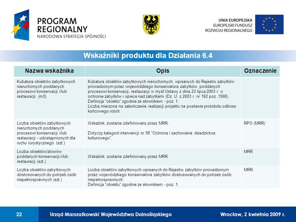 Urząd Marszałkowski Województwa DolnośląskiegoWrocław, 12 czerwca 2008 r.22 01 Urząd Marszałkowski Województwa Dolnośląskiego22Wrocław, 2 kwietnia 2009 r.