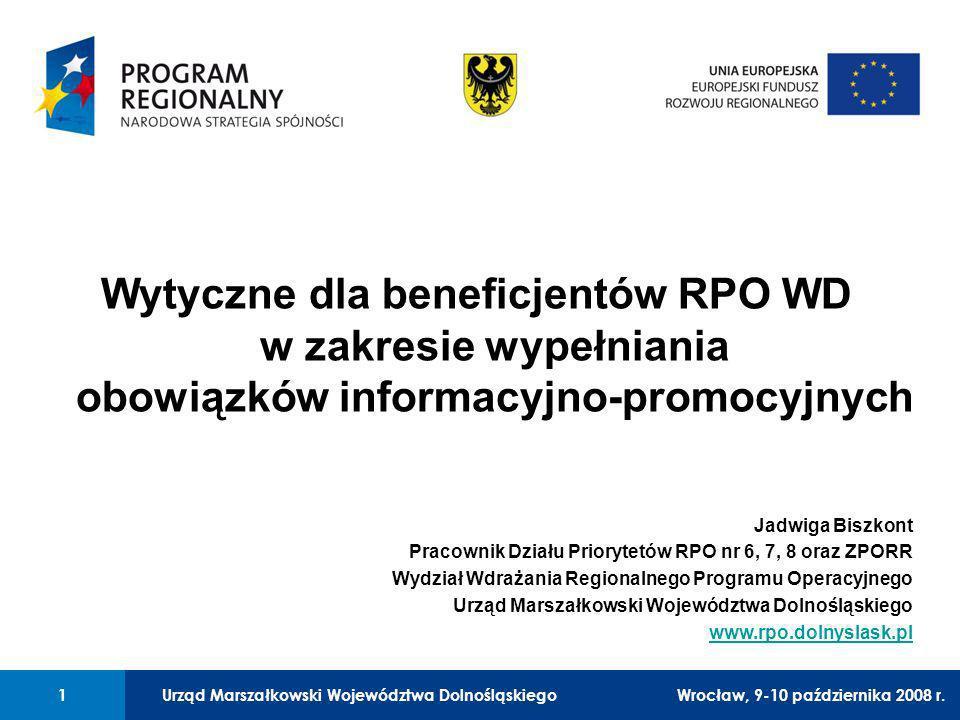 Urząd Marszałkowski Województwa Dolnośląskiego Legnica, 24 czerwca 2008 r. 1 01 Urząd Marszałkowski Województwa Dolnośląskiego1Wrocław, 9-10 październ