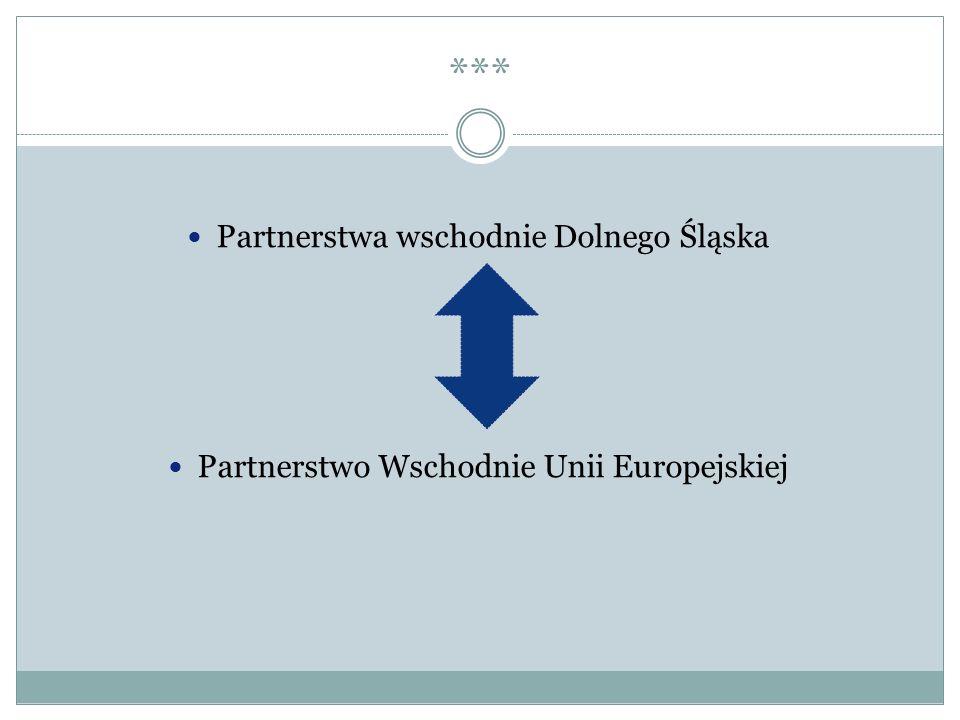 *** Partnerstwa wschodnie Dolnego Śląska Partnerstwo Wschodnie Unii Europejskiej