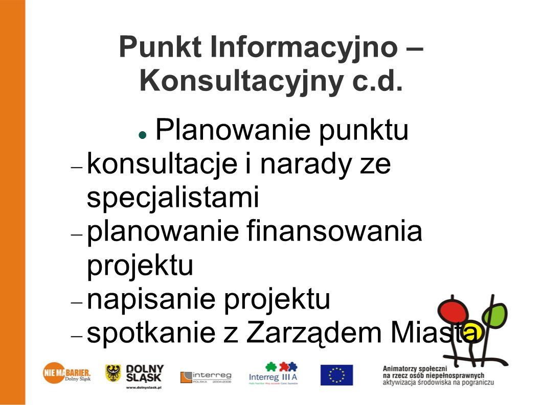 Punkt Informacyjno – Konsultacyjny c.d.