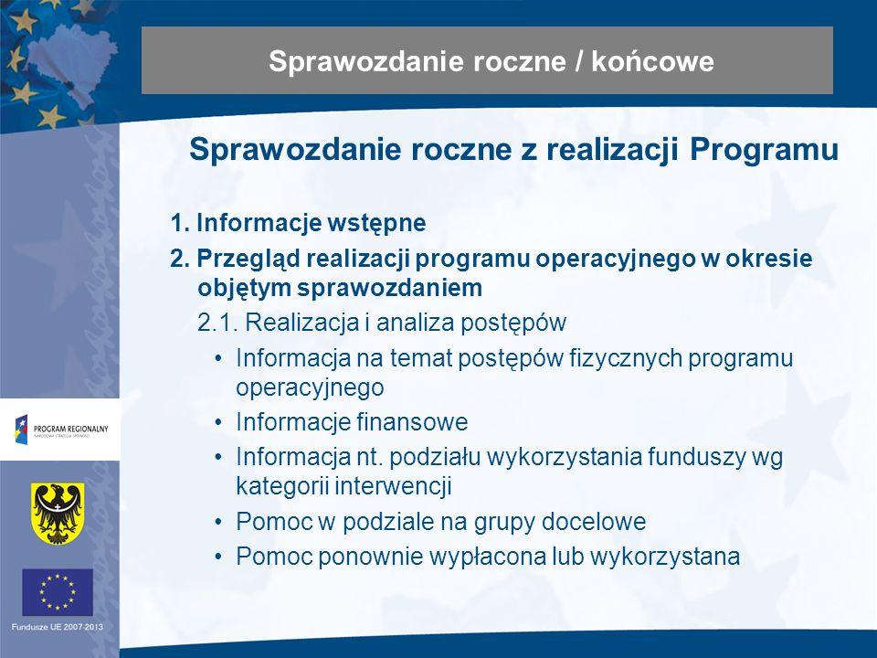 Sprawozdanie roczne z realizacji Programu 1. Informacje wstępne 2.
