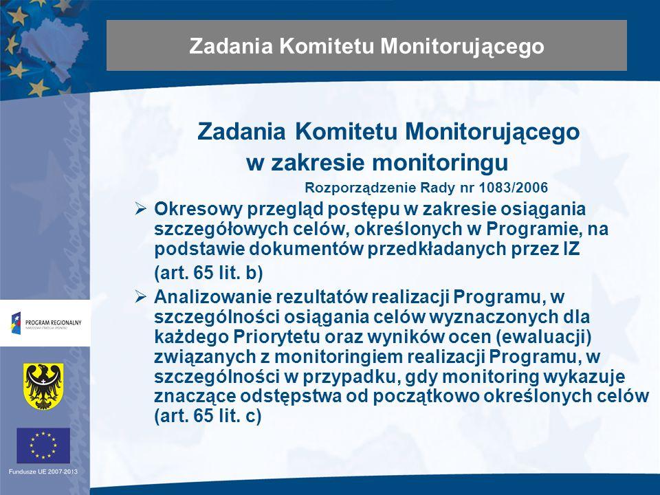 Analizowanie i zatwierdzanie rocznych i końcowego sprawozdania z realizacji Programu (art.