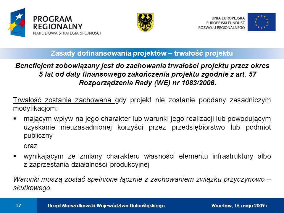 Urząd Marszałkowski Województwa Dolnośląskiego27 lutego 2008 r.17 01 Urząd Marszałkowski Województwa Dolnośląskiego17Wrocław, 15 maja 2009 r.