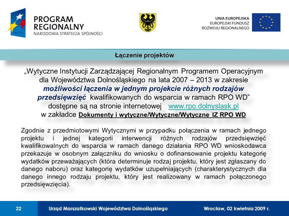 Urząd Marszałkowski Województwa Dolnośląskiego27 lutego 2008 r.22 01 Urząd Marszałkowski Województwa Dolnośląskiego22Wrocław, 02 kwietnia 2009 r.