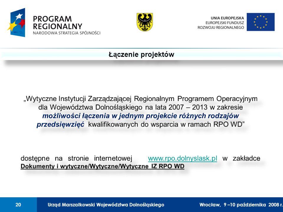 Urząd Marszałkowski Województwa Dolnośląskiego27 lutego 2008 r.20 01 Urząd Marszałkowski Województwa Dolnośląskiego20Wrocław, 9 –10 października 2008 r.