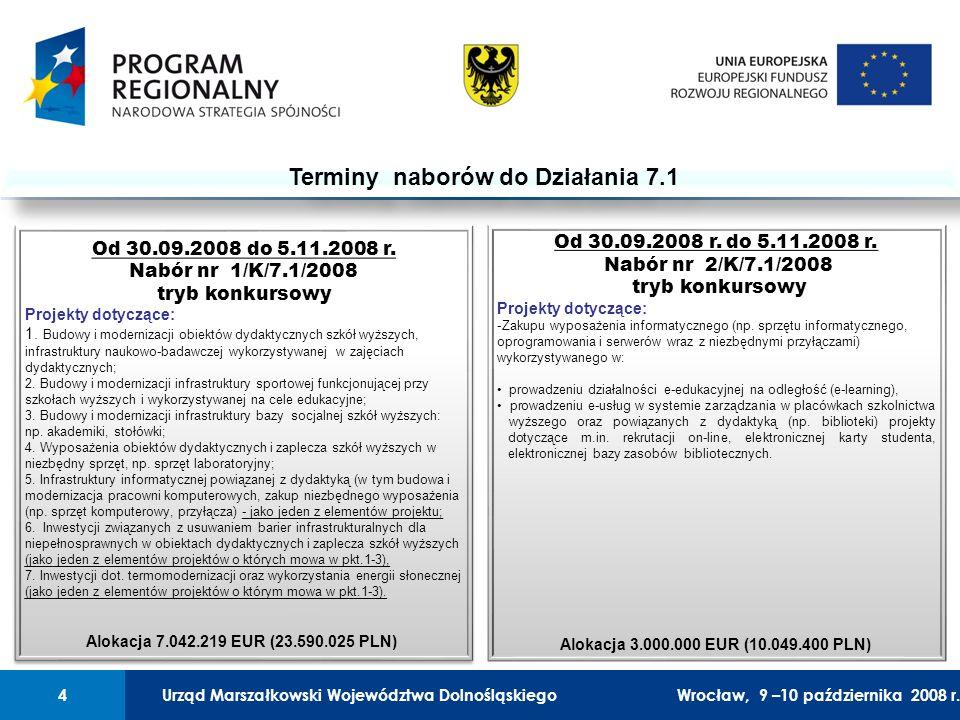 Urząd Marszałkowski Województwa Dolnośląskiego27 lutego 2008 r.4 01 Urząd Marszałkowski Województwa Dolnośląskiego4Wrocław, 9 –10 października 2008 r.