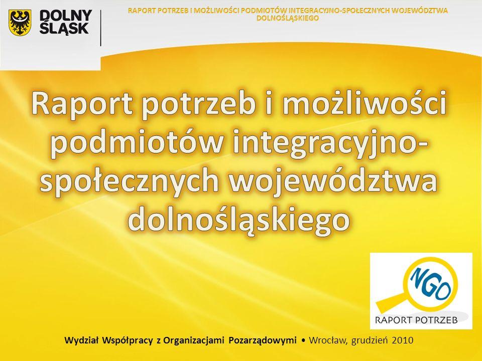 Wydział Współpracy z Organizacjami Pozarządowymi Wrocław, grudzień 2010