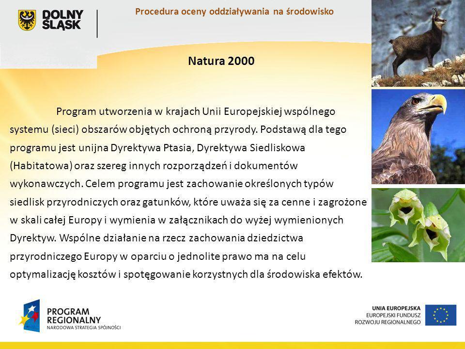 Program utworzenia w krajach Unii Europejskiej wspólnego systemu (sieci) obszarów objętych ochroną przyrody.
