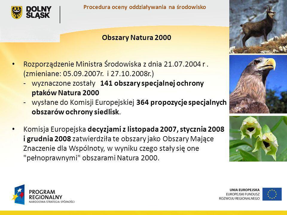 Procedura oceny oddziaływania na środowisko Rozporządzenie Ministra Środowiska z dnia 21.07.2004 r.