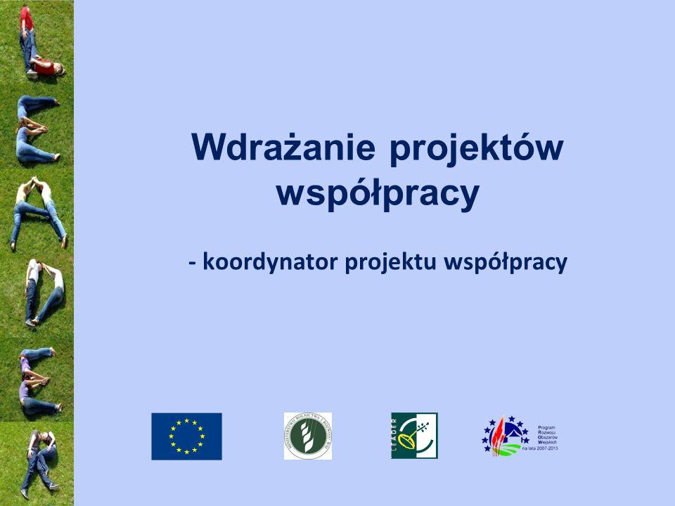 Wdrażanie projektów współpracy - koordynator projektu współpracy