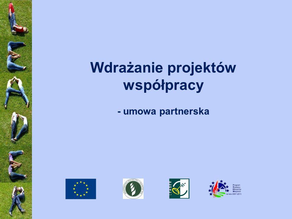 Wdrażanie projektów współpracy - umowa partnerska
