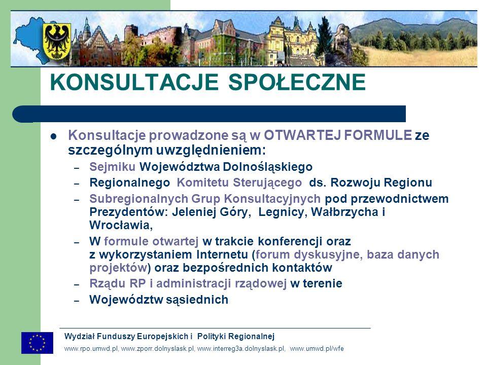 www.rpo.umwd.pl, www.zporr.dolnyslask.pl, www.interreg3a.dolnyslask.pl, www.umwd.pl/wfe Wydział Funduszy Europejskich i Polityki Regionalnej Priorytety wynikają ze zdiagnozowanych w analizie społeczno – gospodarczej zjawisk Priorytety realizują postanowienia krajowych i europejskimi dokumentów strategicznych Jeden priorytet RPO odpowiada nie więcej niż jednemu priorytetowi art.