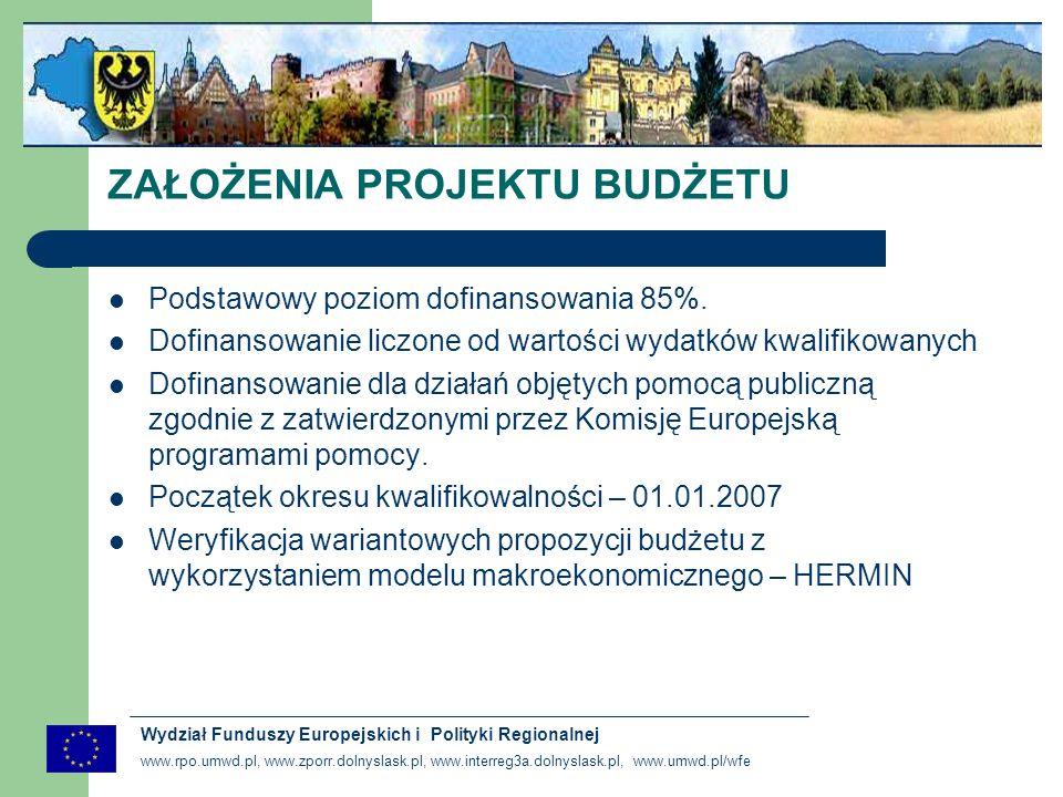www.rpo.umwd.pl, www.zporr.dolnyslask.pl, www.interreg3a.dolnyslask.pl, www.umwd.pl/wfe Wydział Funduszy Europejskich i Polityki Regionalnej USTALENIE LINII DEMARKACYJNEJ WIĄŻĄCE DECYZJE DOTYCZĄCE PODZIAŁU ŚRODKÓW POMIĘDZY PROGRAMAMI USTALENIE UDZIAŁU BUDŻETU PAŃSTWA WE WDRAŻANIU RPO NAJWAŻNIEJSZE PROBLEMY DO ROZWIĄZANIA