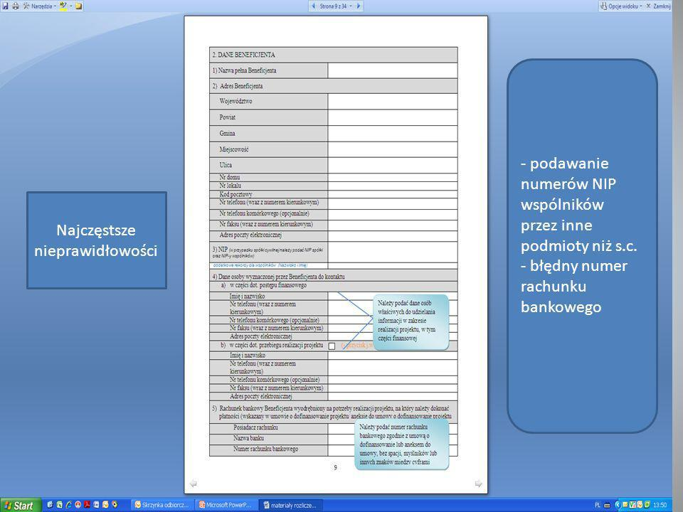 Załączniki do wniosku o płatność Wymienione są w dokumencie pn.: Wytyczne dla wnioskodawców w ramach regionalnego programu operacyjnego dla województwa dolnośląskiego na lata 2007 – 2013 Dokument dostępny na internetowej stronie DIP.