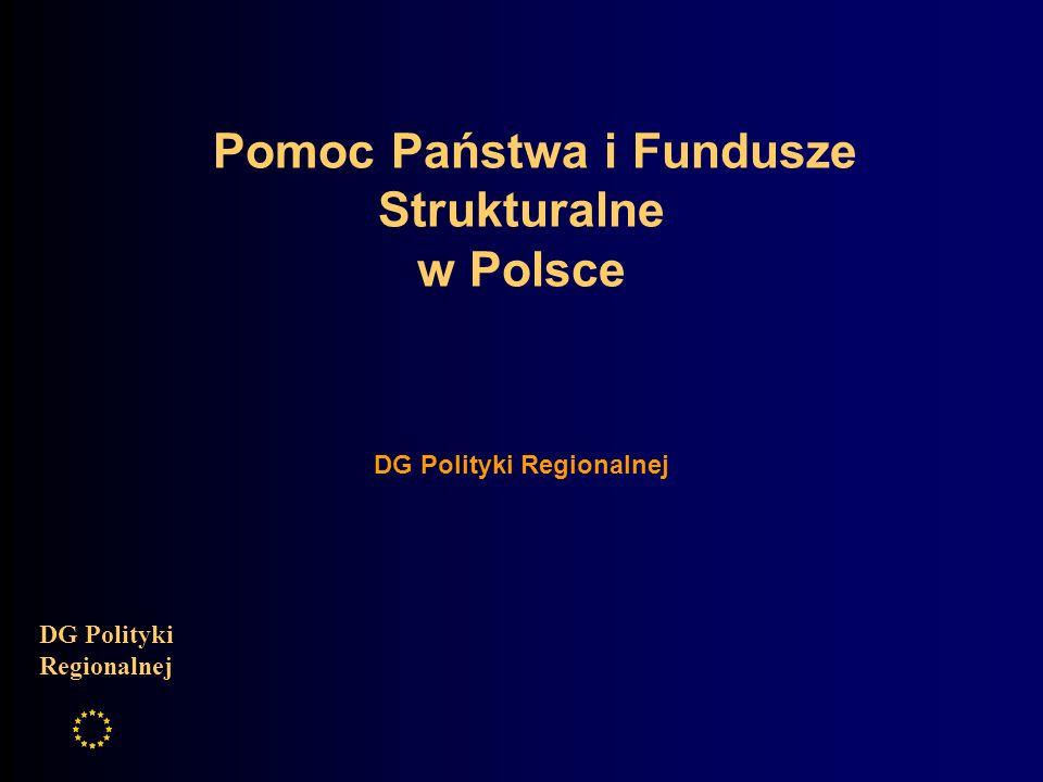 Pomoc Państwa i Fundusze Strukturalne w Polsce DG Polityki Regionalnej