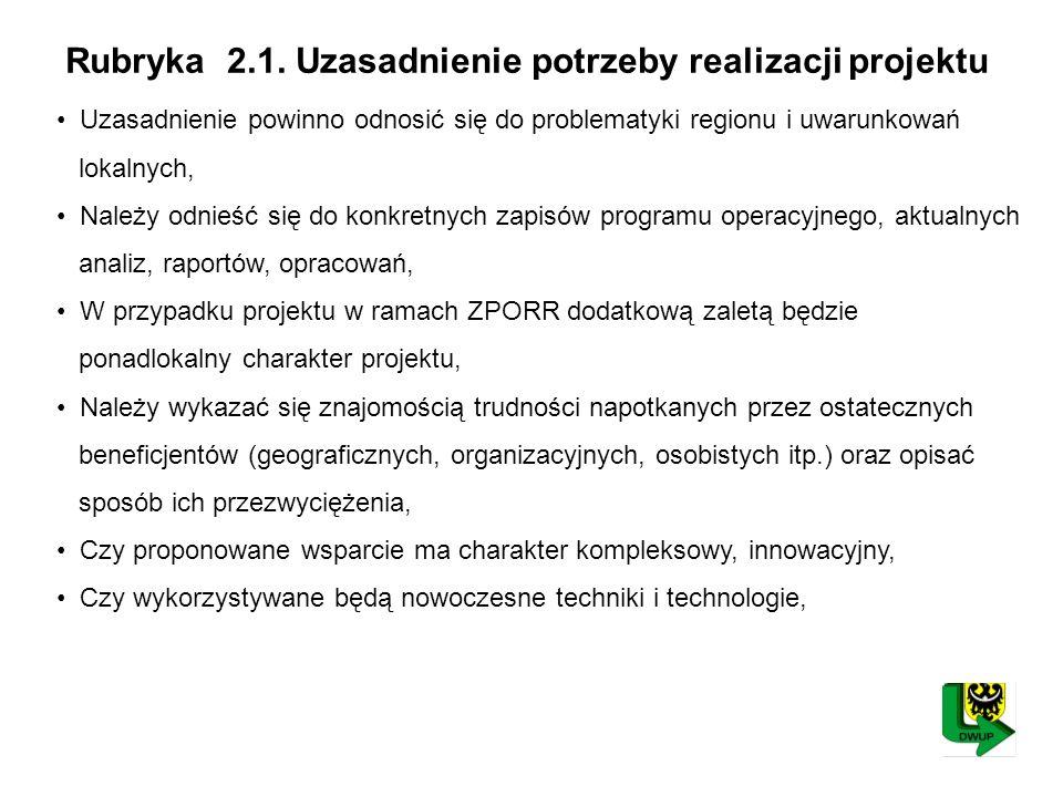 Rubryka 2.1.