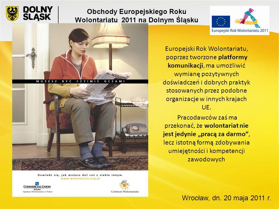 Dolny Śląsk leży w południowo-zachodniej części Polski, w której według raportu Wolontariat, filantropia i 1% Stowarzyszenia Klon/Jawor mieszkańcy najrzadziej angażują się w wolontariat.