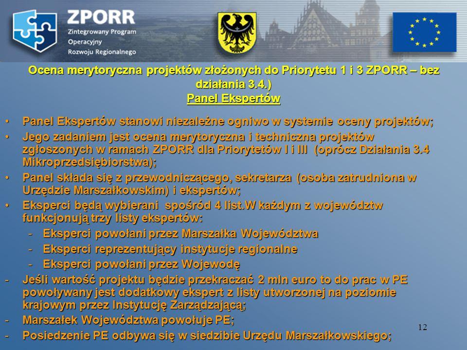 11 Weryfikacja formalna wniosków 1. Wymogi rejestracyjne złożona wersja elektroniczna i papierowa,złożona wersja elektroniczna i papierowa, zgodność o