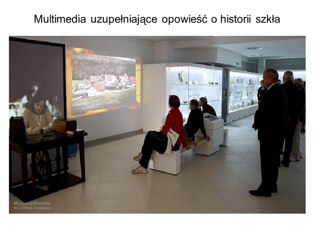 Multimedia uzupełniające opowieść o historii szkła