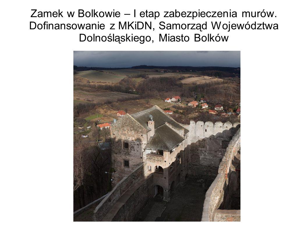 Zamek w Bolkowie – I etap zabezpieczenia murów.