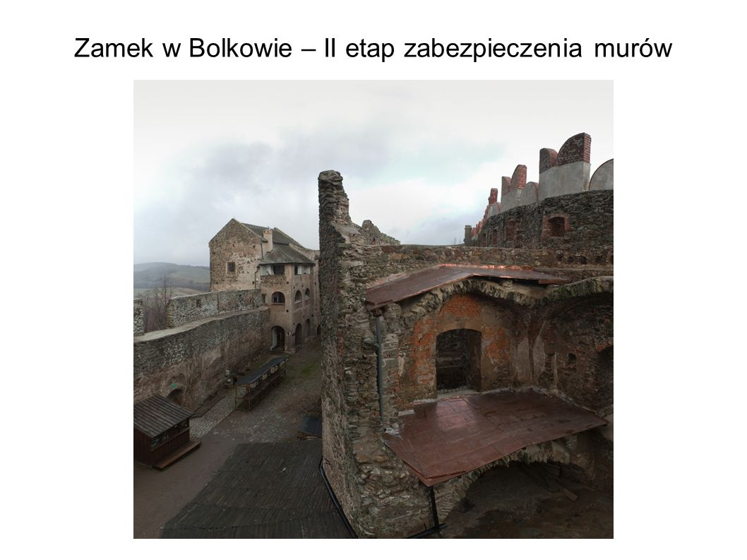 Zamek w Bolkowie – II etap zabezpieczenia murów