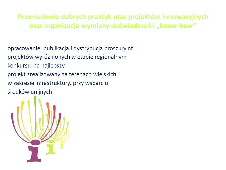 opracowanie, publikacja i dystrybucja broszury nt.