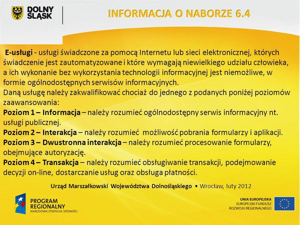 E-usługi - usługi świadczone za pomocą Internetu lub sieci elektronicznej, których świadczenie jest zautomatyzowane i które wymagają niewielkiego udziału człowieka, a ich wykonanie bez wykorzystania technologii informacyjnej jest niemożliwe, w formie ogólnodostępnych serwisów informacyjnych.