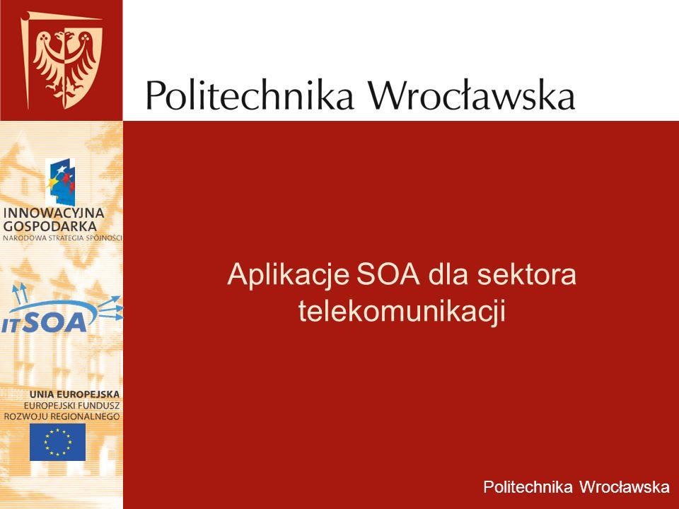 Aplikacje SOA dla sektora telekomunikacji Politechnika Wrocławska