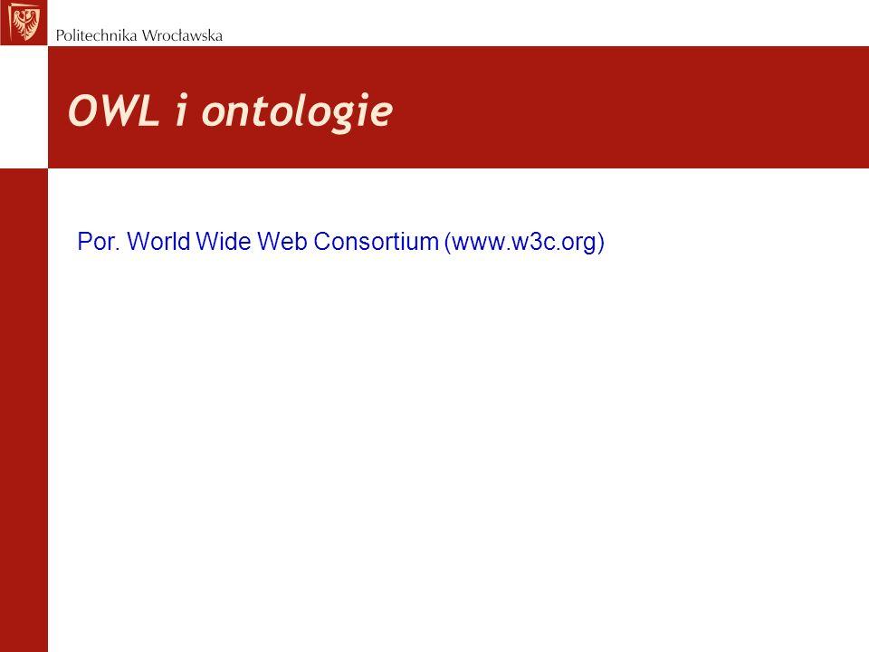 OWL i ontologie Por. World Wide Web Consortium (www.w3c.org)