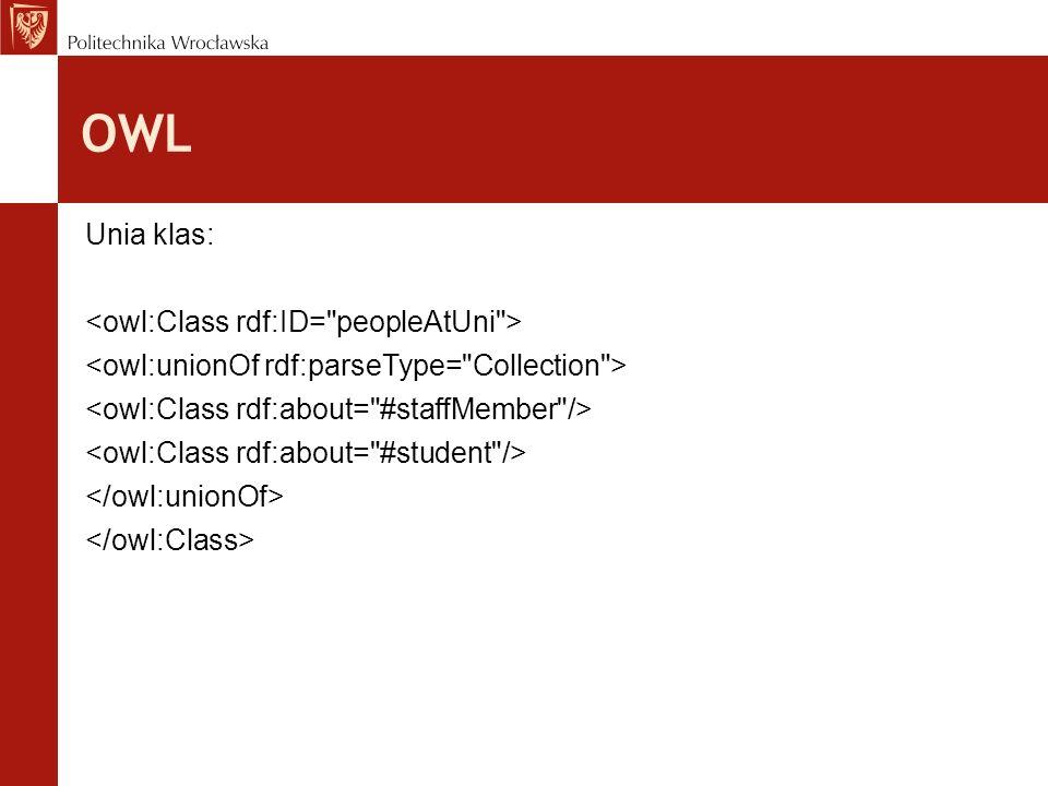 OWL Unia klas: