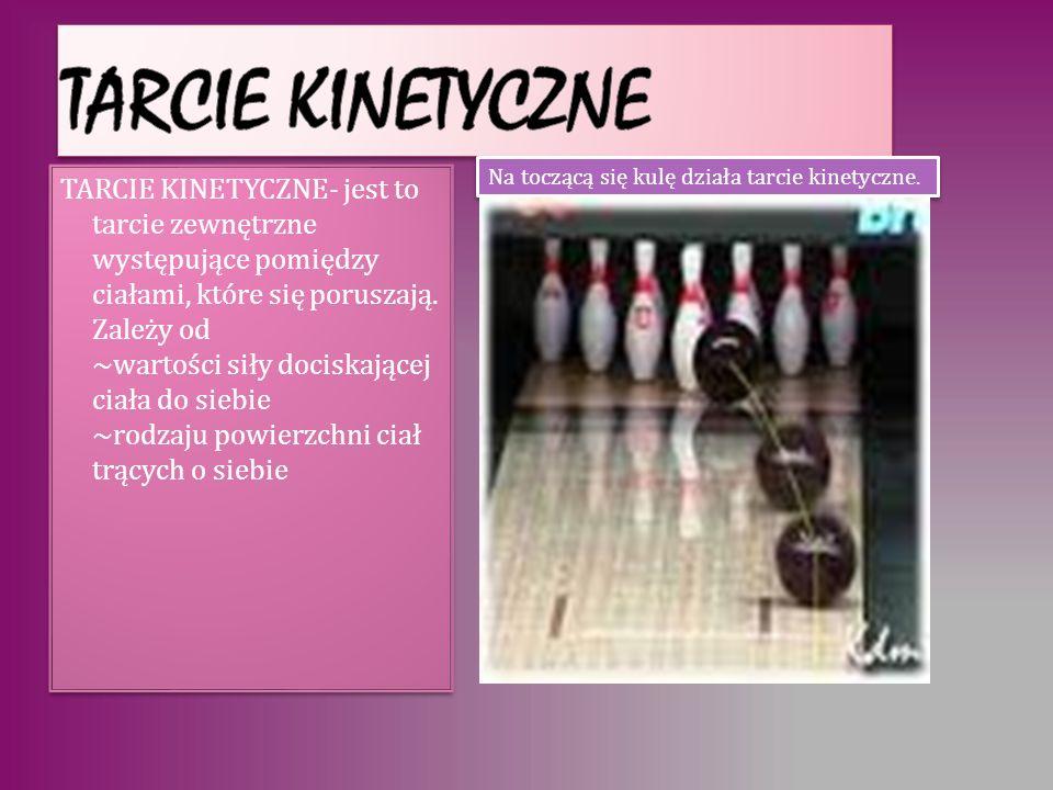 Na toczącą się kulę działa tarcie kinetyczne.