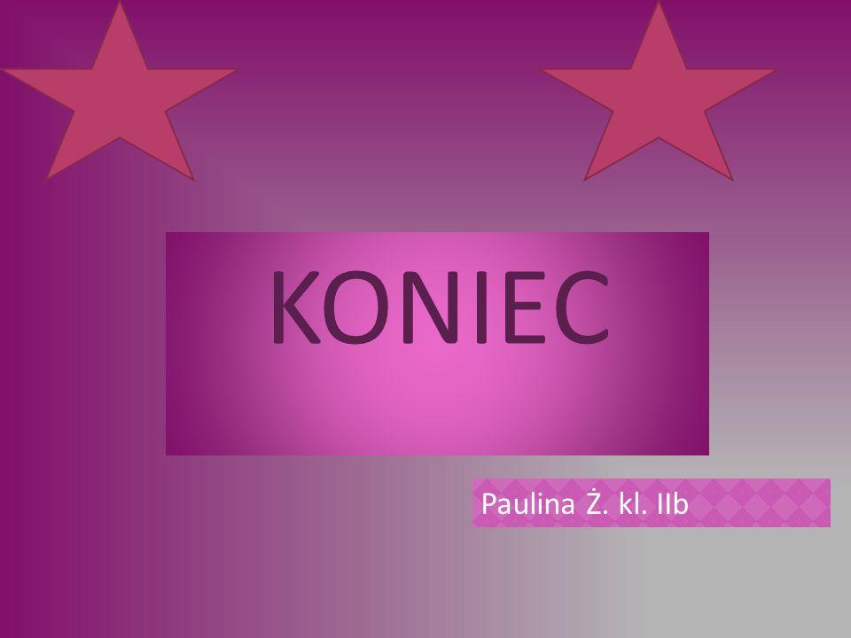 KONIEC Paulina Ż. kl. IIb
