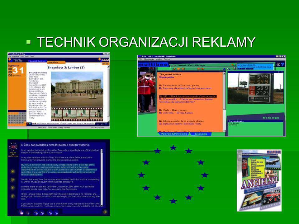 TECHNIK ORGANIZACJI REKLAMY TECHNIK ORGANIZACJI REKLAMY
