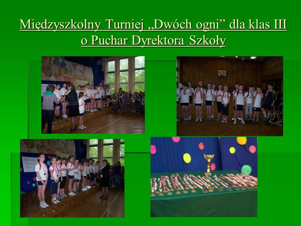 Międzyszkolny Turniej Dwóch ogni dla klas III o Puchar Dyrektora Szkoły