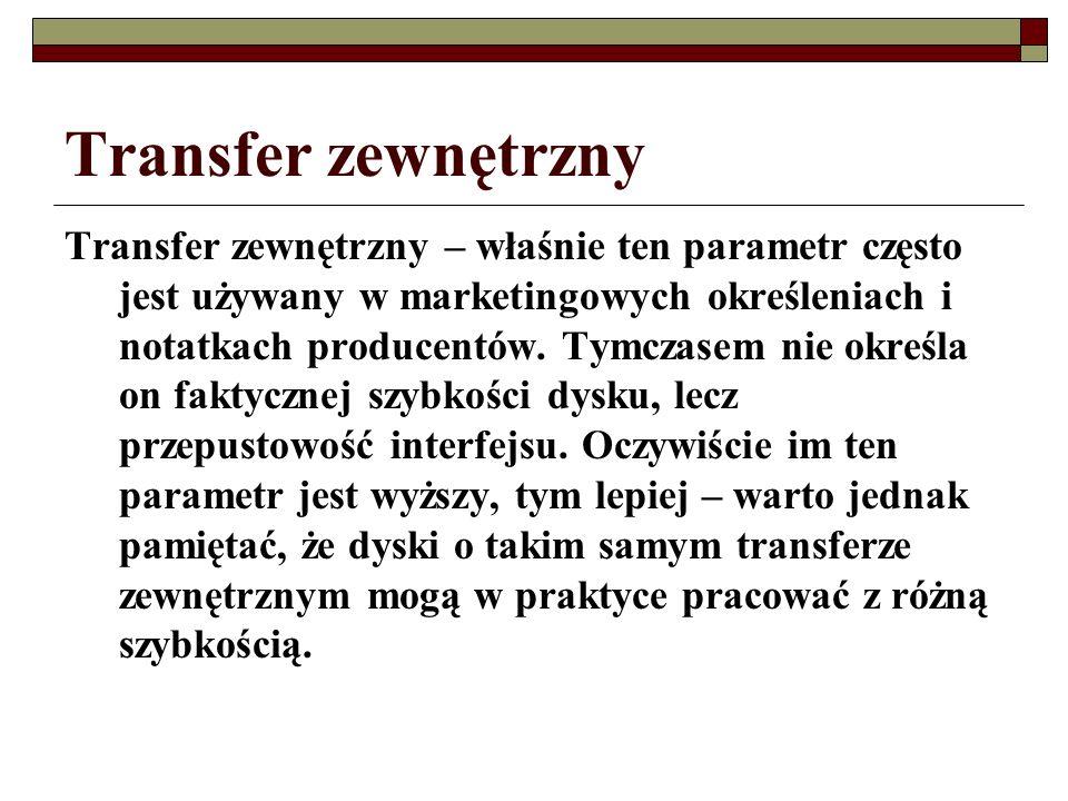 Transfer zewnętrzny Transfer zewnętrzny – właśnie ten parametr często jest używany w marketingowych określeniach i notatkach producentów. Tymczasem ni
