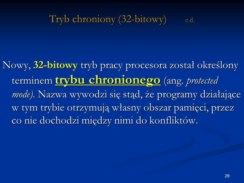 29 Tryb chroniony (32-bitowy) c.d.