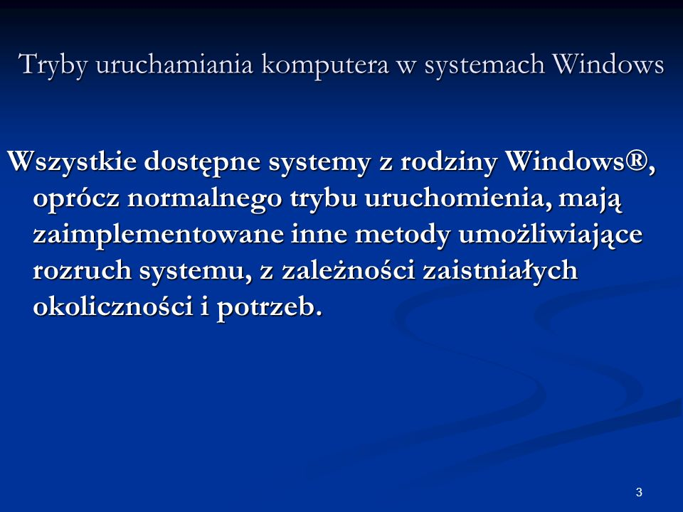 54 Jądro systemu WINDOWS Trudno jest stwierdzić jednoznacznie co należy do systemu operacyjnego, a co już nie.