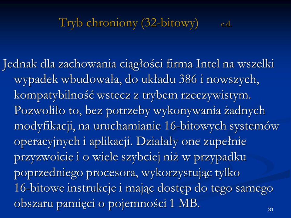 31 Tryb chroniony (32-bitowy) c.d.