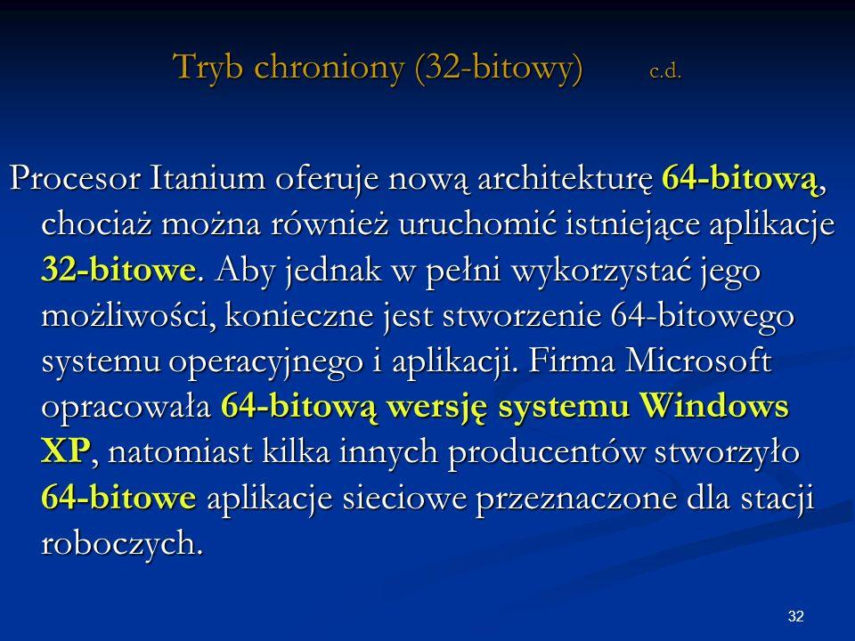 32 Tryb chroniony (32-bitowy) c.d.