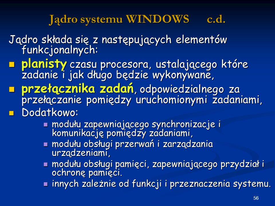 56 Jądro systemu WINDOWS c.d.