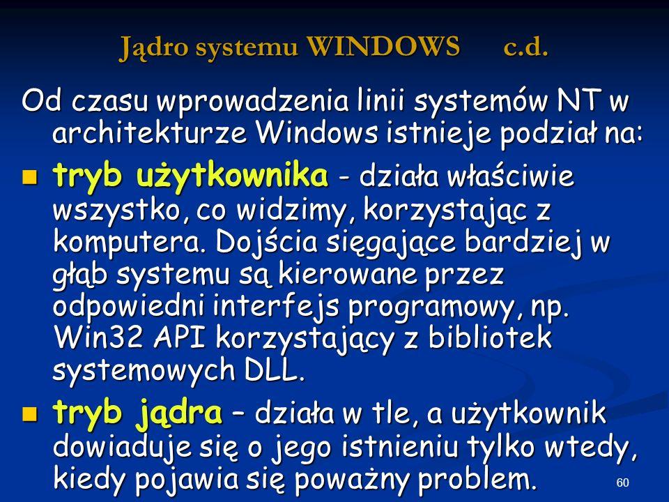 60 Jądro systemu WINDOWS c.d.