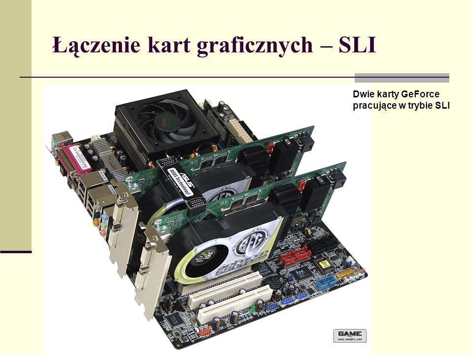 Łączenie kart graficznych – SLI Dwie karty GeForce pracujące w trybie SLI