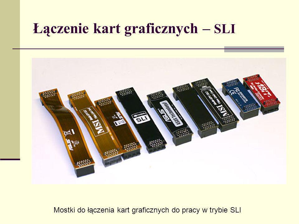 Łączenie kart graficznych – SLI Mostki do łączenia kart graficznych do pracy w trybie SLI