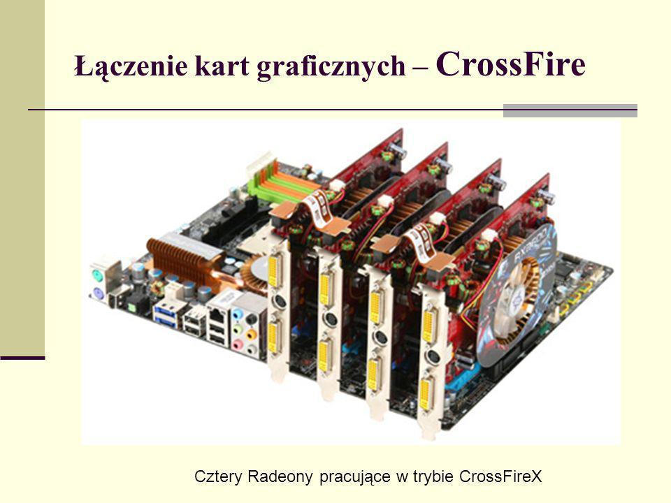 Łączenie kart graficznych – CrossFire Cztery Radeony pracujące w trybie CrossFireX