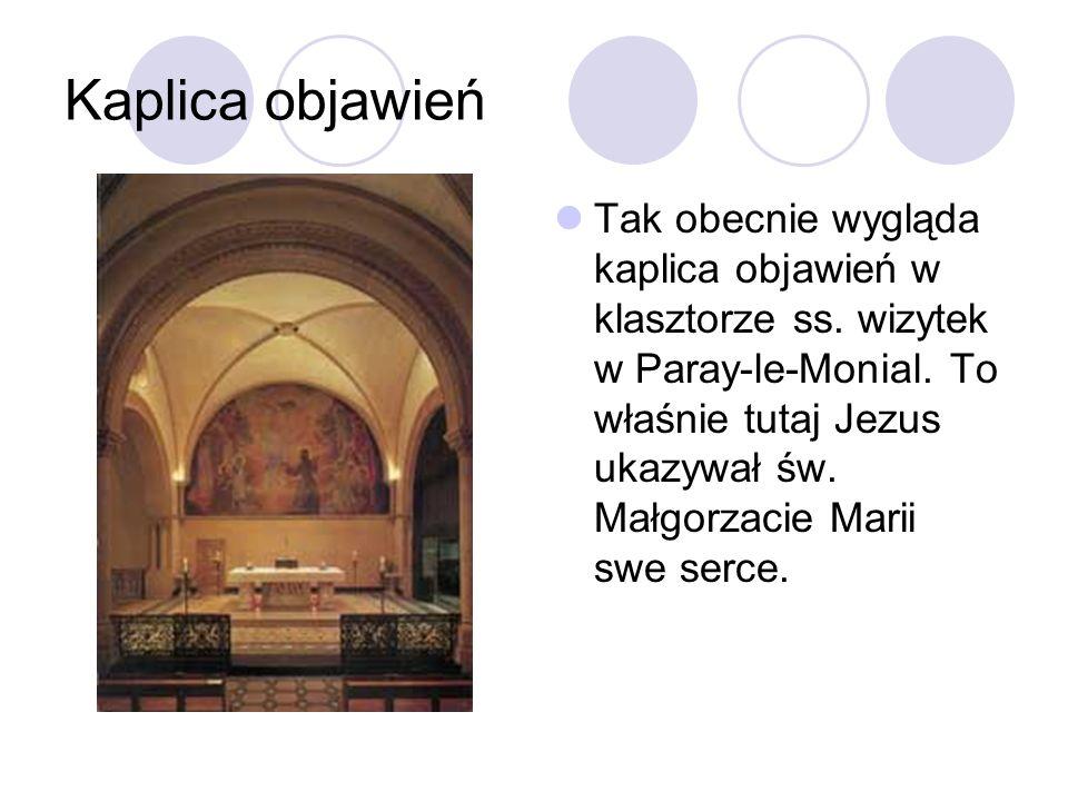 Kaplica objawień Tak obecnie wygląda kaplica objawień w klasztorze ss.