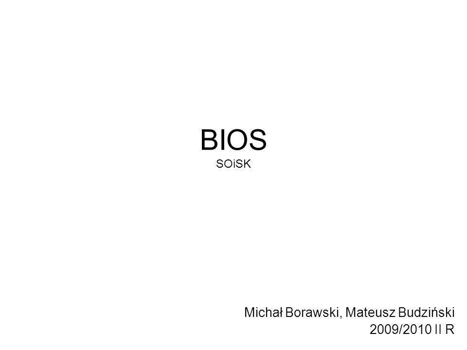 BIOS SOiSK Michał Borawski, Mateusz Budziński 2009/2010 II R