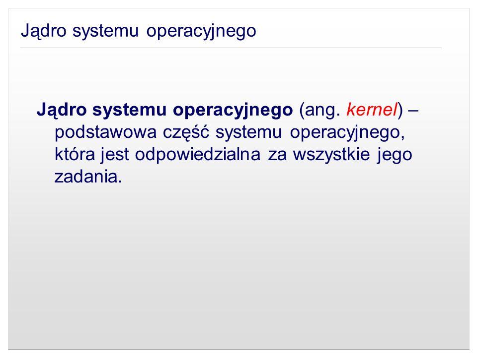 Jądro systemu operacyjnego (ang. kernel) – podstawowa część systemu operacyjnego, która jest odpowiedzialna za wszystkie jego zadania.