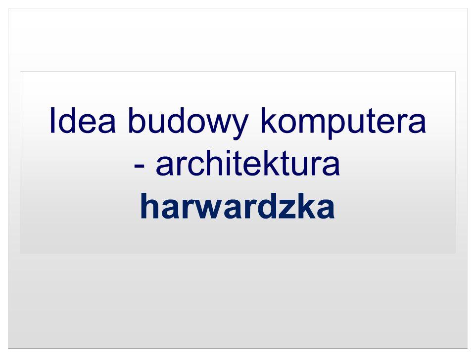 Idea budowy komputera - architektura harwardzka