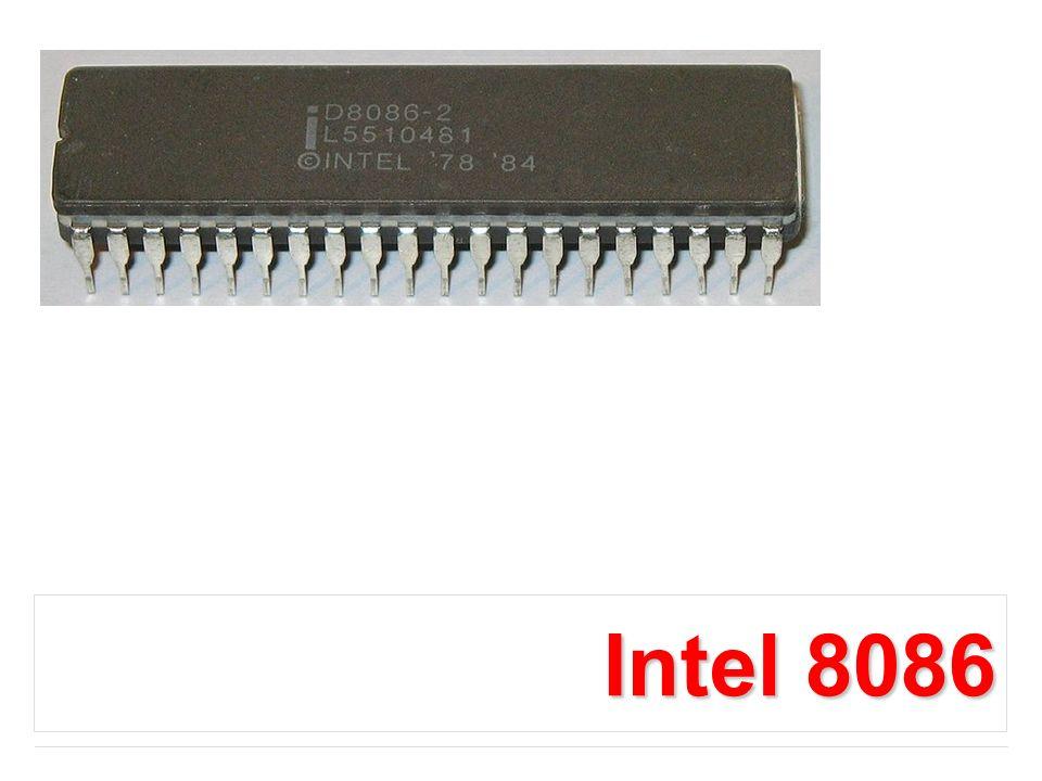 Intel 8086 to pierwszy procesor 16-bitowy.
